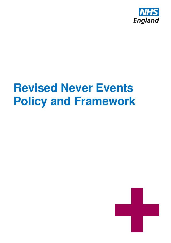 Revised Never Events