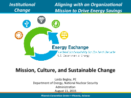 Mission, Culture, and Sustainable Change