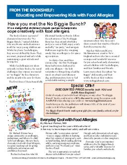 The books feature a group of characters known as the No Biggie Bunch typical children who are diverse and adventurous in all the ways young children are