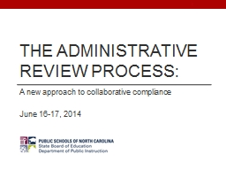 The Administrative Review Process: PowerPoint PPT Presentation