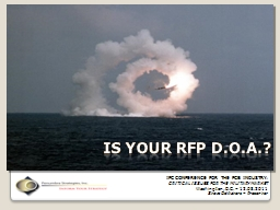IS YOUR RFP D.O.A.? PowerPoint PPT Presentation
