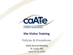Site Visitor Training