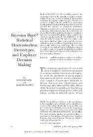 ANNALS AAPSS   January  Much of the debate over the underlying causes of dis crimination centers on the rationality of employer decision making
