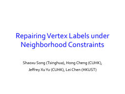 Repairing Vertex Labels under Neighborhood Constraints