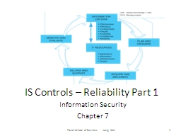 IS Controls – Reliability Part 1 PowerPoint PPT Presentation