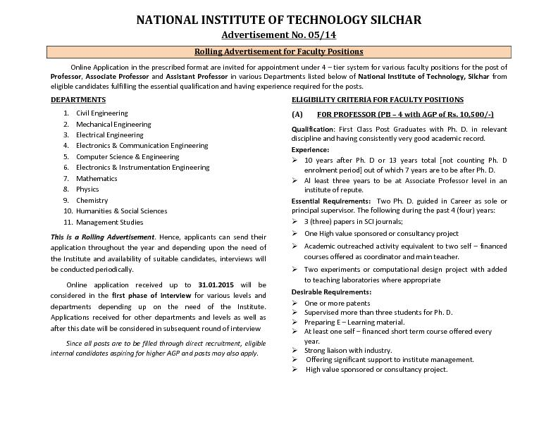 NATIONAL INSTITUTE OF TECHNOLOGY SILCHAR
