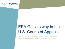 EPA Gets its way in the U.S. Courts of Appeals
