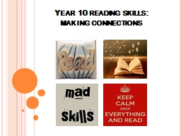 Year 10 reading skills: making connections