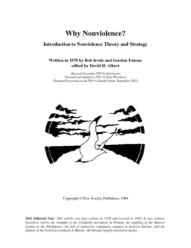 Why Nonviolence?2