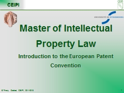 Master of Intellectual Property Law