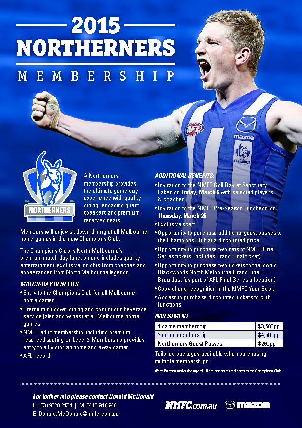 NMFC adult membership, including premium reserved seating on Level 2