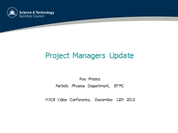 Project Managers Update