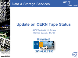 Update on CERN Tape Status