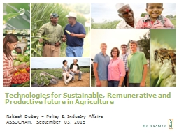 Technologies for Sustainable, Remunerative and Productive f