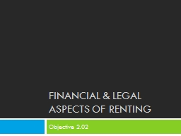 Financial & legal aspects of renting