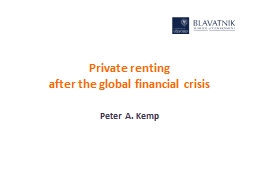 Private renting