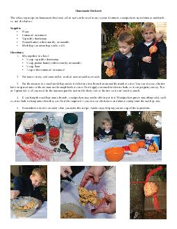 Homemade Birdseed The following recipe for homemade bird food called suet can be used in any season