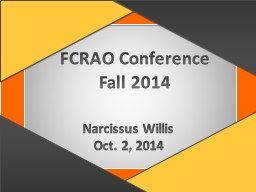 FCRAO Conference