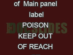 Bisect  EC Termiticide  Insect icide draft label and leaflet    L  L  L  L  L  L Version  page  of  Main panel  label POISON KEEP OUT OF REACH OF CHILDREN READ SAFETY DIRECTIONS BEFORE OPENING OR USI