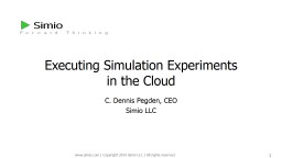 Executing Simulation Experiments
