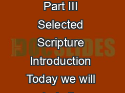 itterness ts ause ts ure Straight Talk  Part III Selected Scripture Introduction Today we will study the scriptures on the subject of bitterness