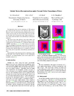 Global Stereo Reconstruction under Second Order Smoothness Priors O