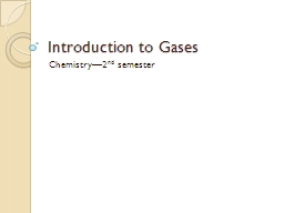 Introduction to Gases PowerPoint PPT Presentation