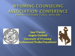 Wyoming Counseling  Association