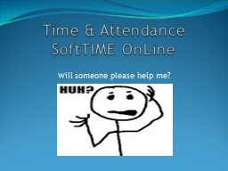 Time & Attendance PowerPoint PPT Presentation
