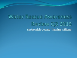 Water Rescue Awareness Review Q3 2015