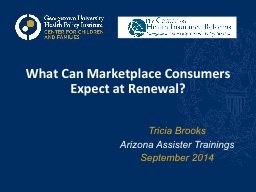 What Can Marketplace Consumers Expect at Renewal?