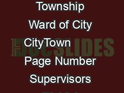 Census State Enumeration District Number Sheet Number County Township Ward of City CityTown         Page Number Supervisors District Number Microfilm T  Roll of  Rolls Depository MidCont inent Publi