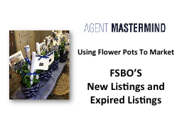 Using Flower Pots To Market