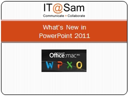 What's New in PowerPoint PPT Presentation