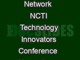Dean Fixsen  Karen Blase National Implementation Research Network  NCTI Technology Innovators Conference  November    Washington DC Page  Dean L