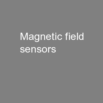 Magnetic field sensors