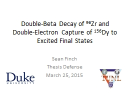 Double-Beta Decay of PowerPoint PPT Presentation