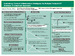 Evaluating Product Differentiation Strategies Via Multiple PowerPoint PPT Presentation