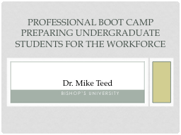 Dr. Mike Teed PowerPoint PPT Presentation