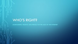 Who's Right? PowerPoint PPT Presentation