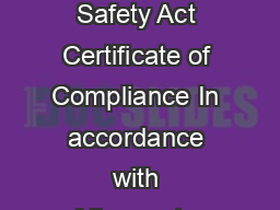 Minnesota Bleacher Safety Act Certificate of Compliance In accordance with Minnesota Statutes B