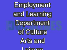 Providing Inspection Services for Department of Education Department for Employment and Learning Department of Culture Arts and Leisure Education and Training Inspectorate Report of a Followup Inspec
