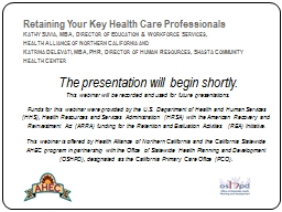 Retaining Your Key Health Care Professionals