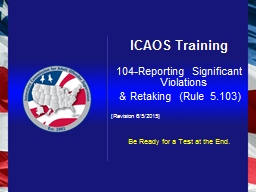 ICAOS Training
