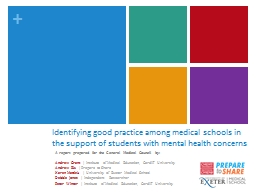 Identifying good practice among medical schools in the supp