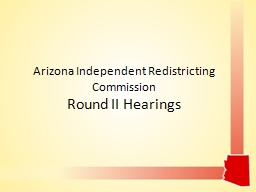 Arizona Independent Redistricting Commission