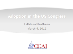 Adoption in the US Congress PowerPoint PPT Presentation