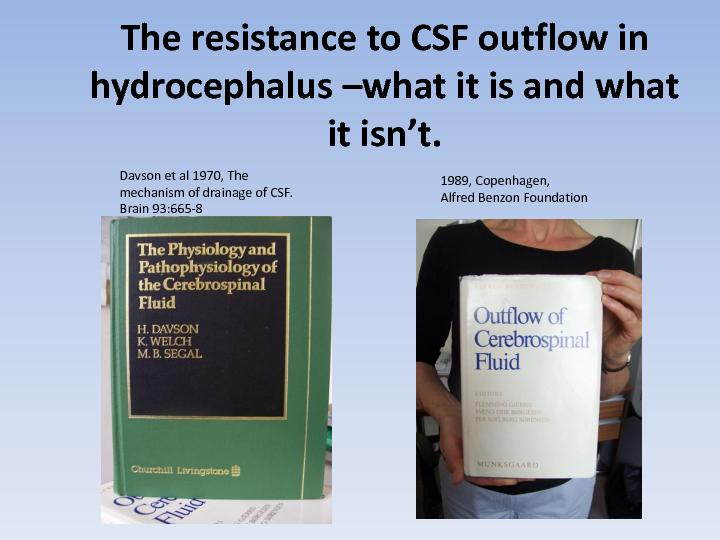 The resistance to CSF outflow in