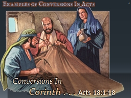 1 Examples of Conversions In Acts PowerPoint PPT Presentation