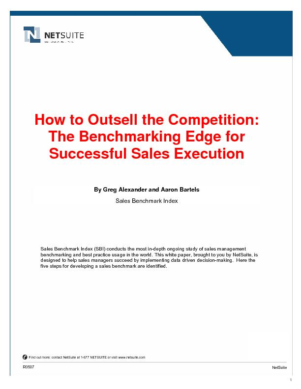 How to Outsell the Competition: The Benchmarking Edge for Successful S
